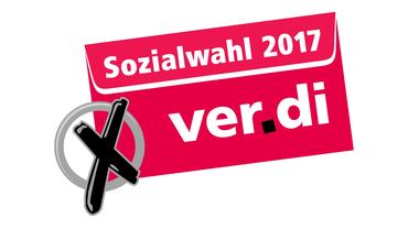 ver.di-Logo der Sozialversicherungswahlen 2017